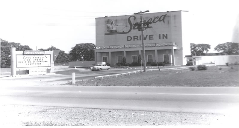 Seneca Drive-in Theatre, Geneva, New York - Photo provided courtesy of the Geneva Historical Society.